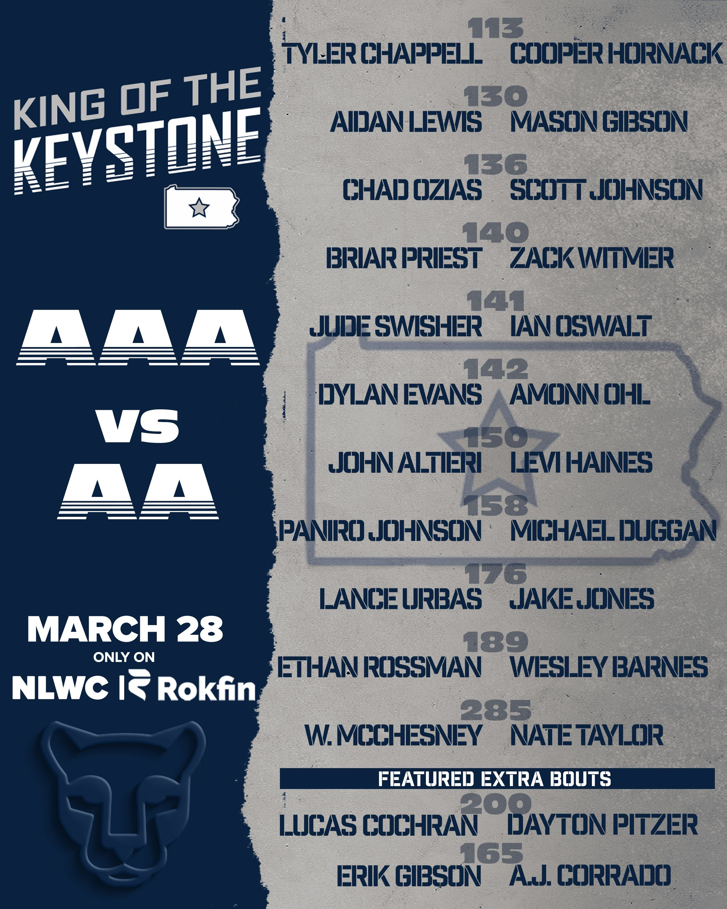 """""""King of the Keystone"""" Rokfin Event Sunday March 28th"""